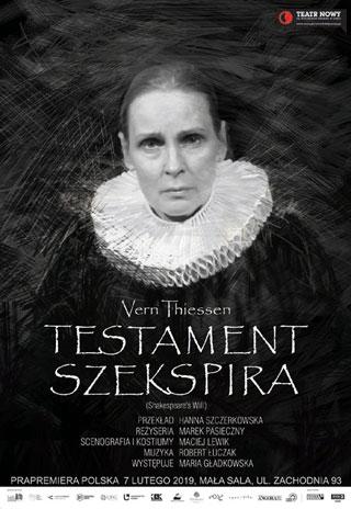 Testament Szekspira - Nowy Theatre, Łodź